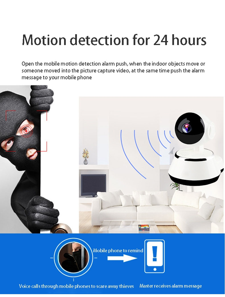 2019 HD 720P V380 housekeeping artifact wireless camera home wifi network 6