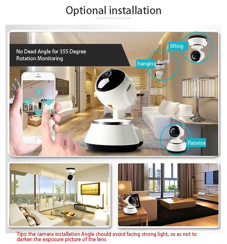 2019 HD 720P V380 housekeeping artifact wireless camera home wifi network 1