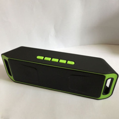 Outdoor Car Bluetooth Subwoofer Multifunctional Speaker black green one power one model