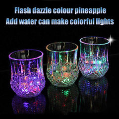 LED Flashing Glowing Water Liquid Activated Light-up Wine Beer Glass Cup Mug Party Bar Drink Cups pineapple cup as picture