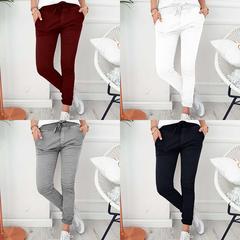 AFANTI 2019 eBay Amazon Wish hot sale style fashionable casual slim tight stretch pants black s