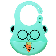 Adjustable baby supplies cartoon pocket bib silicone waterproof apron saliva towel terry cloth doctor one size