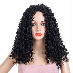 Explosive fashion temperament small volume explosion head chemical fiber wig headgear black one size