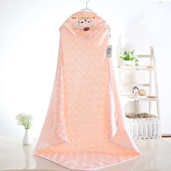 Newborn enamel color cotton blanket quilt cover cartoon bath towel ultra-thin air conditioning quilt pink one size