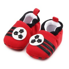 Newborn baby shoes cotton knit soft leather shoes boys and girls shoes soft bottom red 11cm