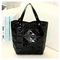 New fashionable PU single shoulder bag foldable foreign trade handbag in autumn and winter black 31*32*3cm