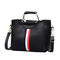 New Fashion European and American Coloured Bar Baitao Slant Bag Women's Bag black 25*21*10cm
