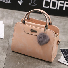 New European and American Fashion Women's Bag Trend Single Shoulder Handbag Slant Bag pink 22*18*10cm