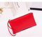 European and American fashion ladies handbag Pu pocket purse handbag crocodile pattern bag Bright red 19*11*1.5cm