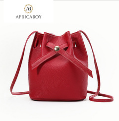 New Fashion Bucket Fashion Single Shoulder Slant Bag red 22*16*12cm