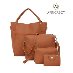 New fashionable European and American ladies'bags with one shoulder and oblique straddle brown 30*23*14cm