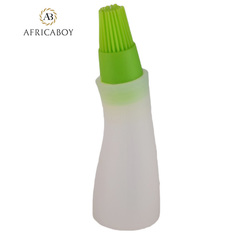 High temperature resistant food grade silicone oil bottle brush green 14*5*5cm