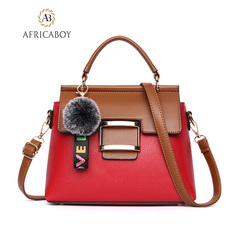 New European and American Fashion Handbag Single Shoulder Slant Bag red 27*22*10cm