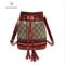 Drawing rope  bag recreational fringed single shoulder inclined bag woman handbag red 21*21*11cm