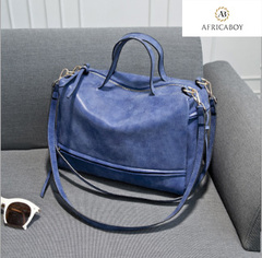 New lady's handbag, large bag, diagonal straddle lady's bag, single shoulder bag woman handbag blue 30*27*9cm