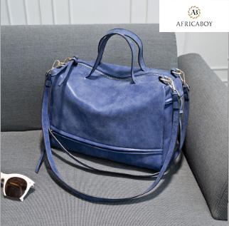 New lady's handbag, large bag, diagonal straddle lady's bag, single shoulder bag woman handbag blue 30*27*9cm