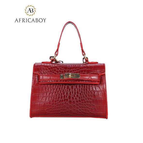 HandbagLacquered Handbag Single Shoulder Slant Lady's Bag woman handbag red 20*7*15cm