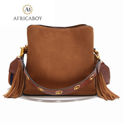 Single shoulder oblique Bag women Handbag brown 23*11*21cm