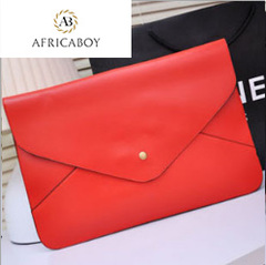 One-shoulder slant handbag lady handbag candy-colored banquet bag women Handbag red 34*23*3cm