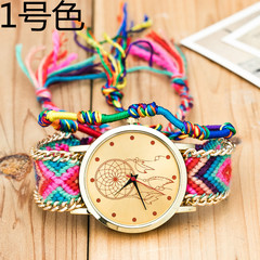 Handmade Braided Dreamcatcher Friendship Bracelet Watch Ladies Rope Watch Quarzt Watches 1
