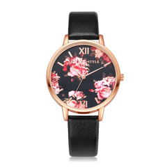 Fashion Leather Strap Women Watch Casual Love Heart Quartz WristWatch Women Dress Ladies Watches black