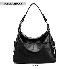 2019 new women's mother bag handbag fashion bag versatile one-shoulder messenger bag black one size