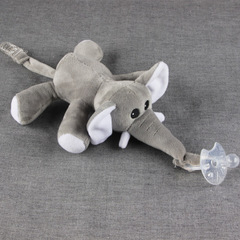 Large doll Baby Boy Girl Dummy Pacifier Chain Clip Plush Animal Toys Soother Nipples Holder Elephant 14cm*16cm