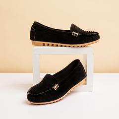 Plus Size 35-44 Women Flats shoes 2019 Candy Color Slip on Ballet Flats Comfortable Ladies shoe black 41
