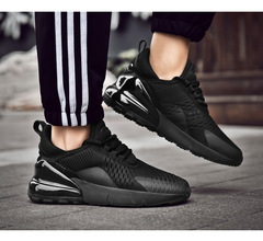 New couple loafers men's large size running shoes fashion breathable shock absorber couple shoes black 36