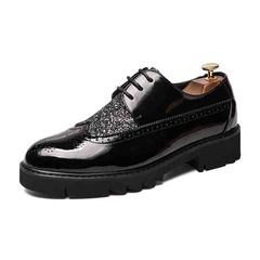 Wang foot  thick bottom increased male leather shoes 1 36
