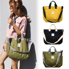 Canvas Bag Large Capacity Handbag Wild Shoulder Messenger Bag Tote Handbag green one size