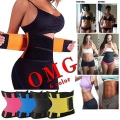 Unisex Power Slimming Belt Body Shaper Waist Trainer Trimmer Sport Gym Sweating Fat Burning Slimming Black XXL