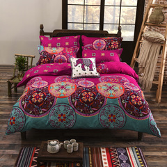 Bohemian 4pc Bed Cover 3d Mandala printing bed sheet Bedspread tapestry one one