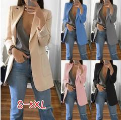 2019American European style slim jacket jacket lapel jacket open point women's clothes red s