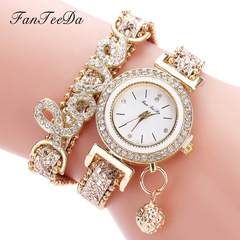 Trendy diamond-encrusted watch pendant watch with English letters bright pink average white