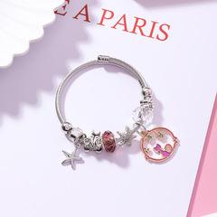 Pandora style starfish cat DIY bracelet national style personality jewelry crystal bracelet female blue average