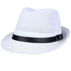 Hat man summer western cowboy mesh big eaves outdoor travel hat white M56-58cm