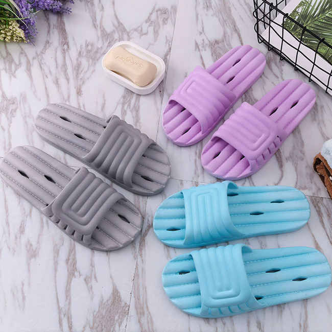 New summer couple home slippers men's and women's slippers slipper slip plastic slippers peach 36-37