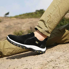 2019 slip-resistant hiking shoes outdoor men's shoes waterproof breathable hiking shoes black 39