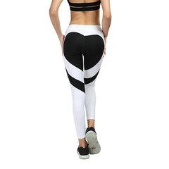 New buttocks love stitching yoga leggings buttock lift high waist leggings for women White and black S