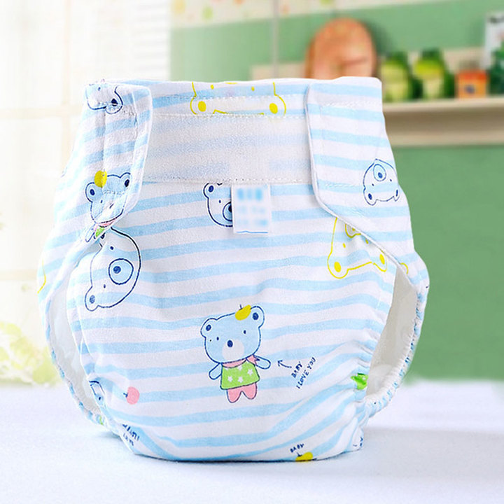 Diaper is suitable for waterproof soft antibacterial diaper with border leak pad randomly All code