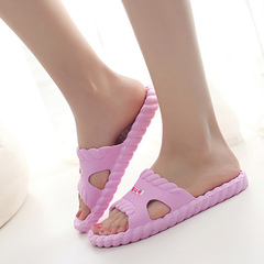 Slippers home summer couples home home in a twist of the bathroom anti - slip slippers Watermelon red 36