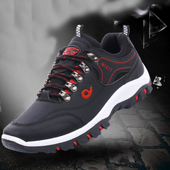 New men's sports and leisure running shoes fashion shoes outdoor sports shoes for men black 38