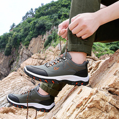 New men's sports and leisure running shoes fashion shoes outdoor sports shoes for men green 44