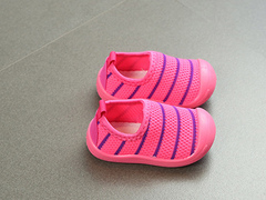 Spring children's single shoes with soft soles toddler shoes non-slip breathable baby shoes red 19 yds -12.5 cm