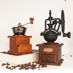 Coffee grinder retro grinder household small coffee grinder brown All code