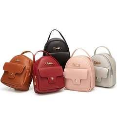 New Korean fashion PU lady bag single-shoulder cross-body bag mobile phone bag backpack red 1 a
