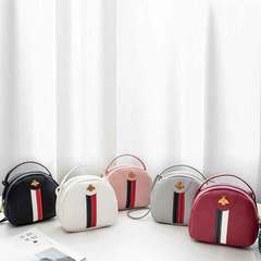New women's bag Korean version of fashion mini small square bag slant carrying small bags red 1 a