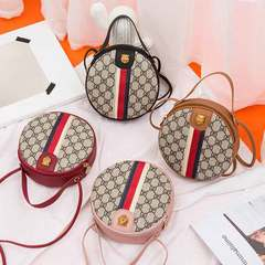 New style lady bag casual small round bag single shoulder cross body bag red 1 a