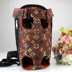 Pet chest bag dog bag dog bag go out bag backpack teddy pet backpack American style red Size L (suitable for under 10 kg)